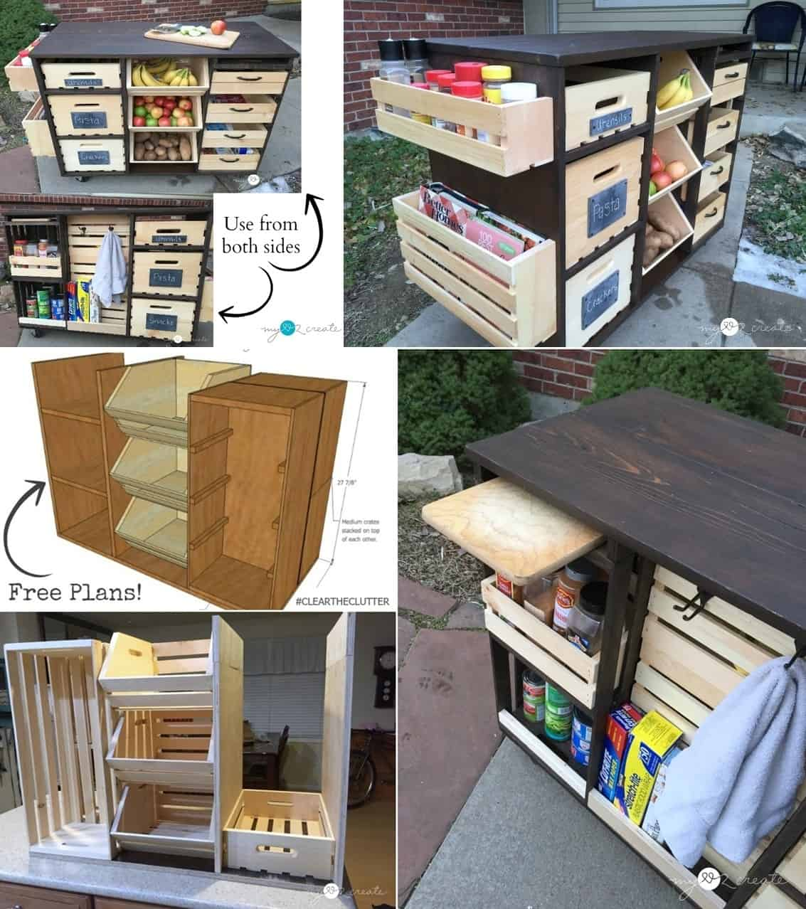 A DIY Kitchen Island with a Pantry