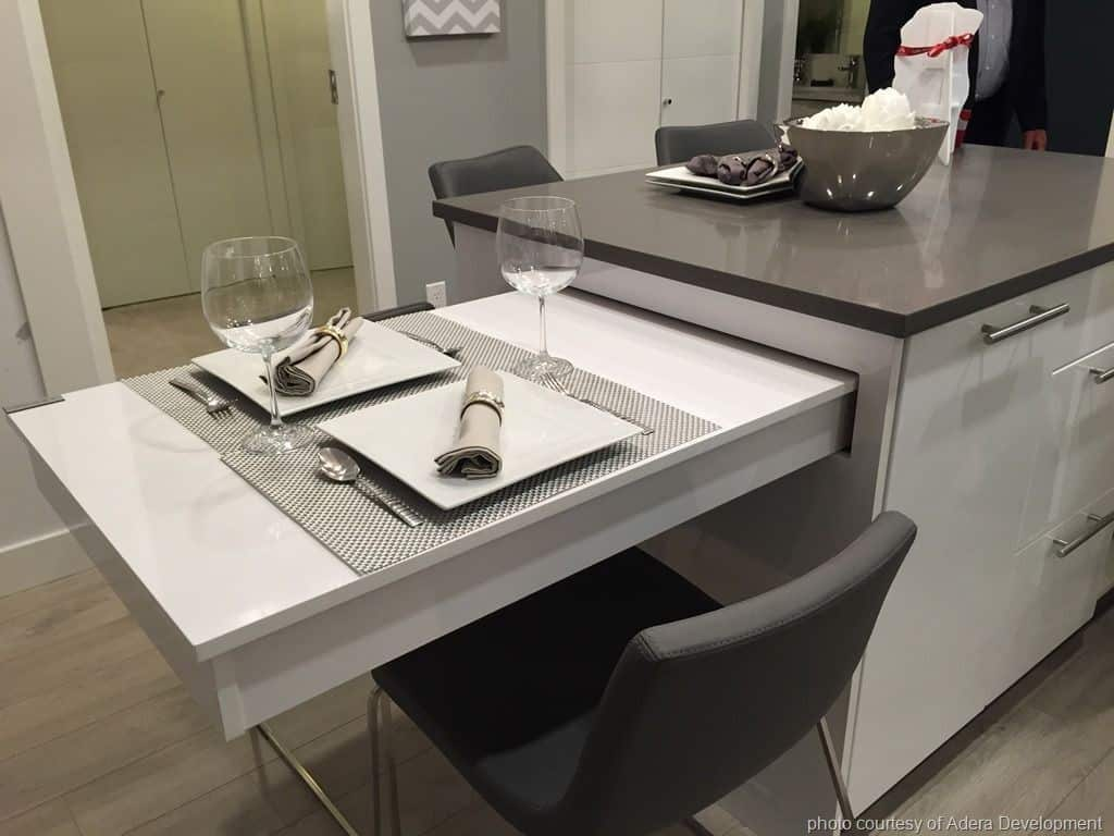A Kitchen Island with a Pull-Out Dining Table