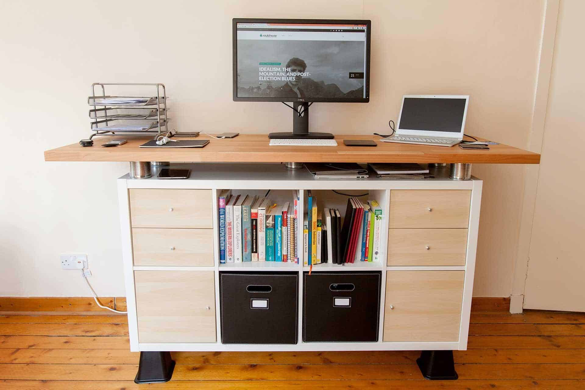 A Standing Desk IKEA Hack